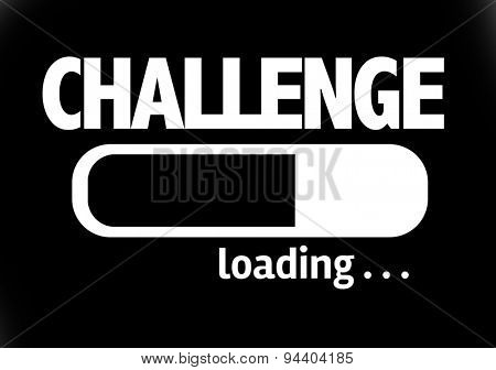 Progress Bar Loading with the text: Challenge