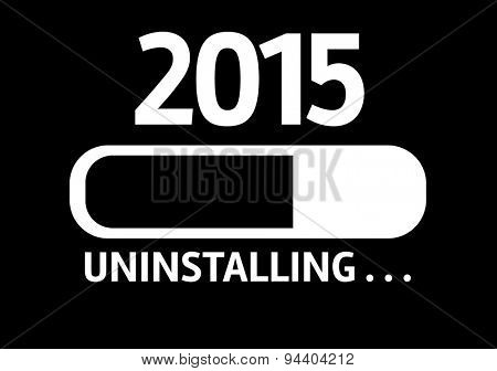 Progress Bar Uninstalling with the text: 2015