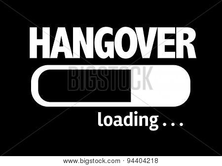 Progress Bar Loading with the text: Hangover