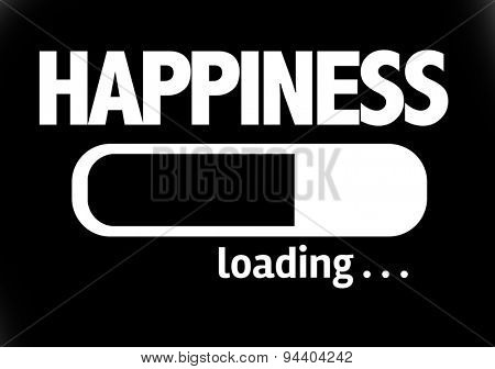 Progress Bar Loading with the text: Happiness