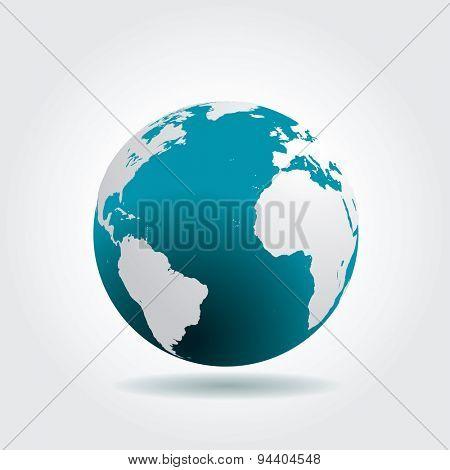 vector blue globe