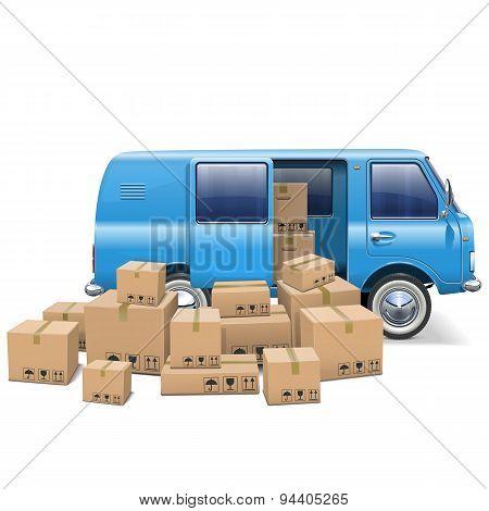Vector Delivery Minivan