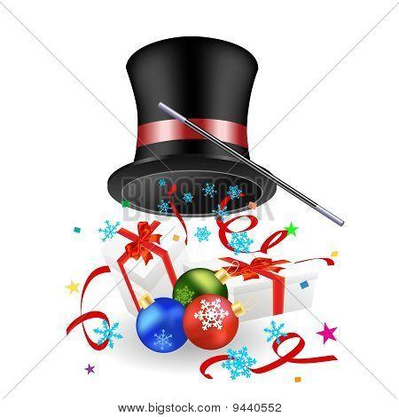 Sombrero y regalos