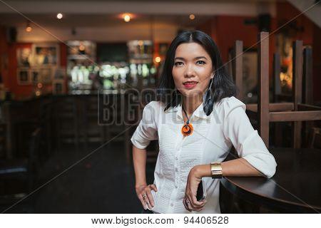 Female bar manager