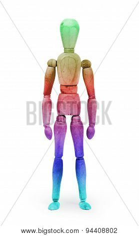 Wood Figure Mannequin With Bodypaint - Multi Colored