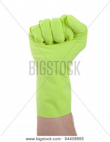 Rubber Glove, Making Fist