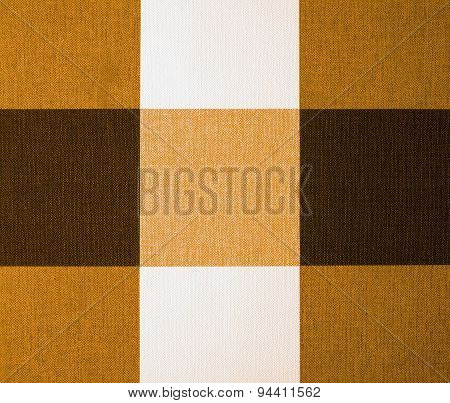 Beige, Orange And Brown Gingham Tablecloth