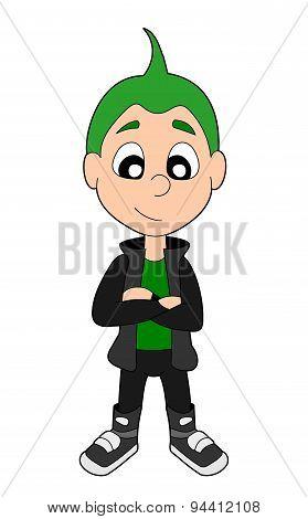 Punk Boy Cartoon