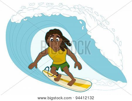 Surfing Man Cartoon