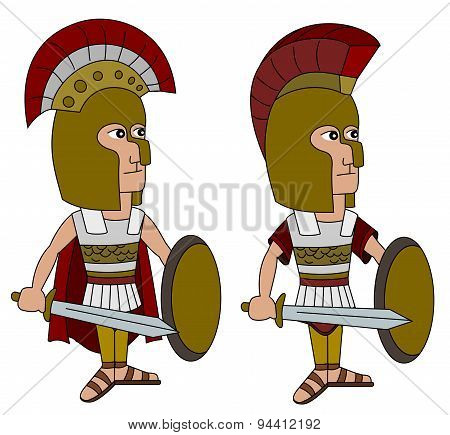 Hoplite Warriors Cartoon
