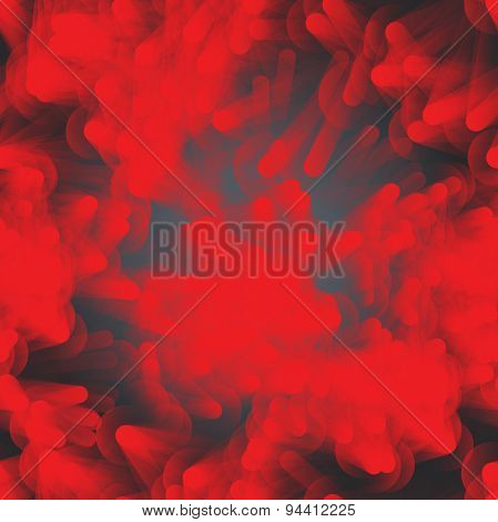 Textile Seamless Pattern Of Red Ragged Clouds On Dark Backdrop