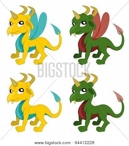 Cute Cartoon Dragons Collection