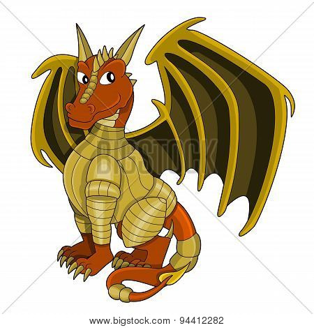 Cartoon Dragon Warrior