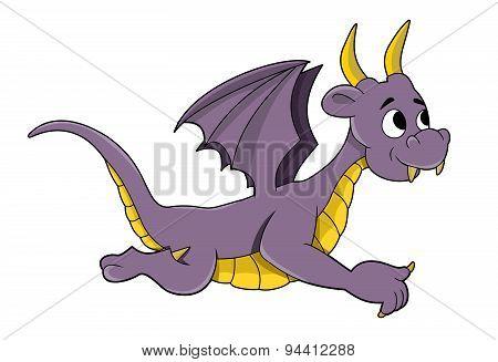 Little Purple Dragon Cartoon