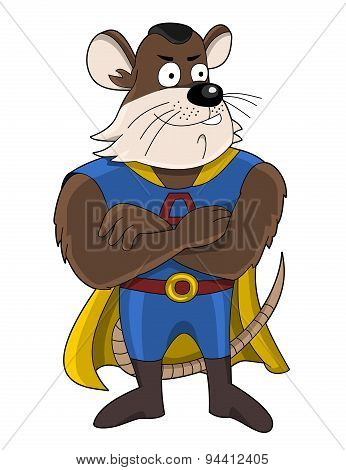 Superhero Mouse Cartoon