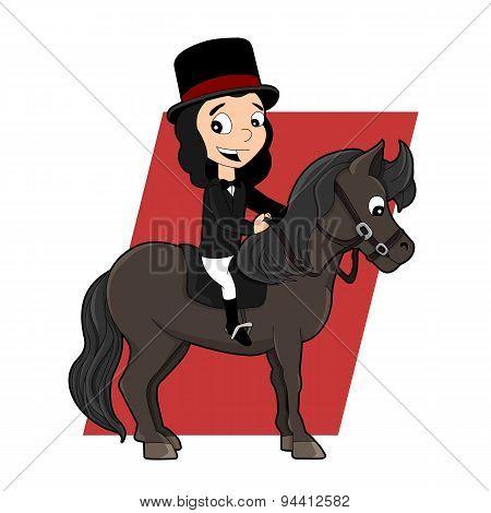 Dressage Rider Cartoon
