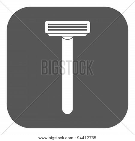 The Shaving Razor Icon. Shaver Symbol. Flat