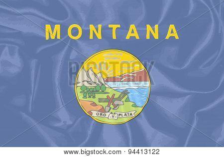 Montana State Silk Flag