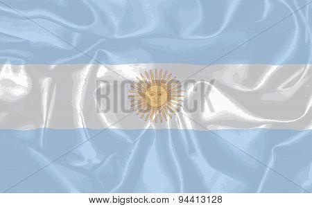 Argentina Silk Flag