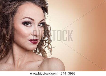 Gorgeous Woman With Professional Make Up