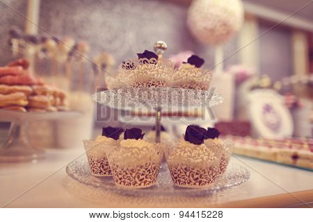 Cupcakes On Plate