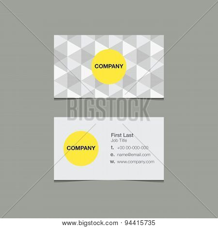 Simple Name Card Template Triangle Style