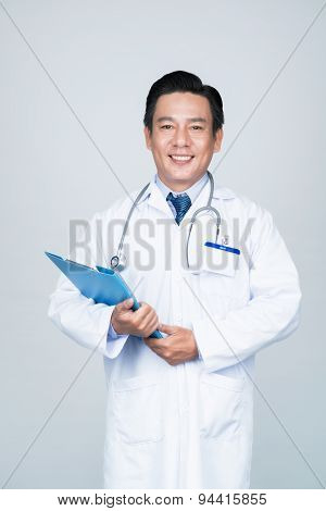 Smiling experienced doctor