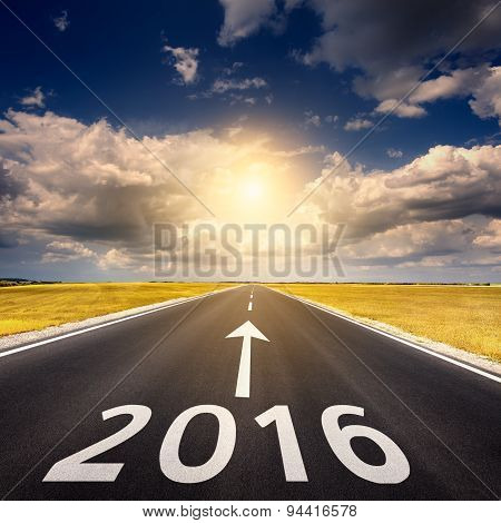Road Business Concept For The New Year 2016
