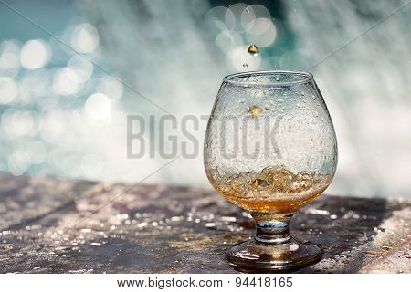 Amber Drink Poured In Glass