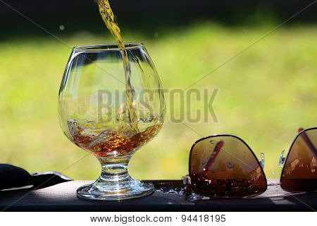 Beverage Poured In Bocal