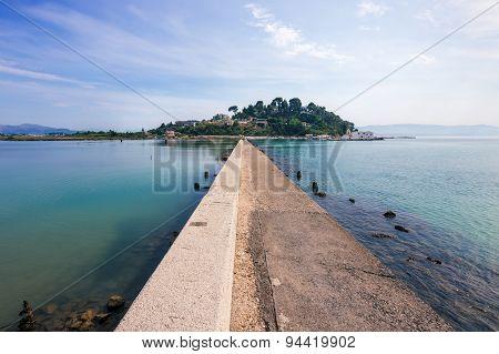 Pontikonissi in Corfu Greece.