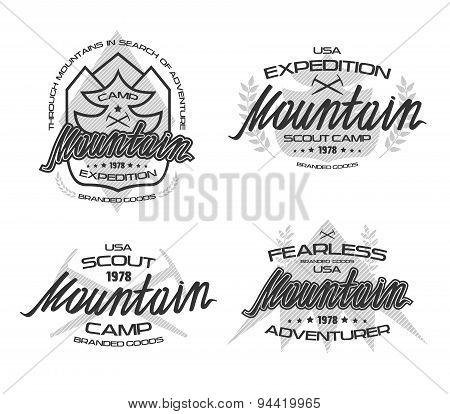 Mountain Emblems  For T-shirt.