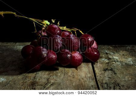 Wine Grapes Light Painting