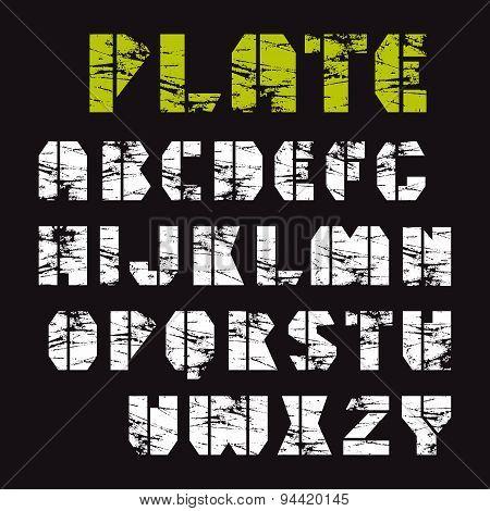 Sans Serif Stencil-plate Font