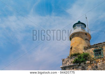lighthouse on Old Fortress on Kerkyra