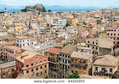 panorama of old town, the Kerkyra Corfu