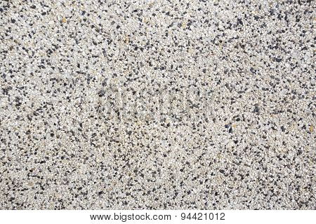 Rough Texture Surface Of Exposed Aggregate Finish, Made Of Small Sand Stone