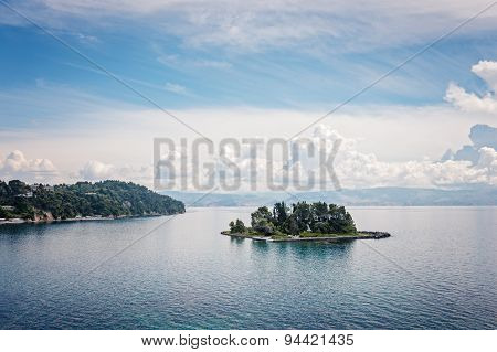 Mouse Island and the Vlacherna Monastery on the Kanoni