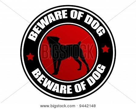 Beware Of Dog Label