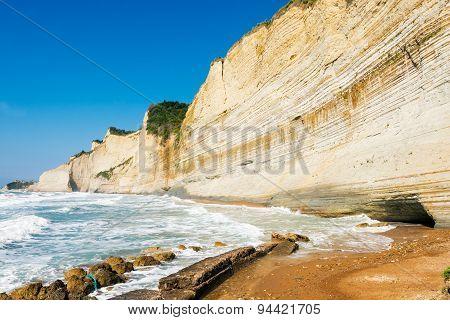 Logas Sunset beach Perulades Corfu
