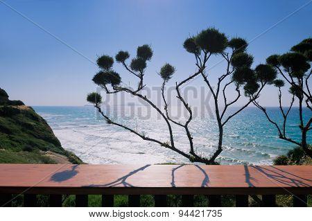 Cafe on Logas Sunset beach Perulades Corfu