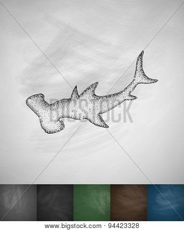 hammerhead shark icon