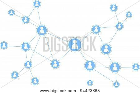 social media illustration - networking people
