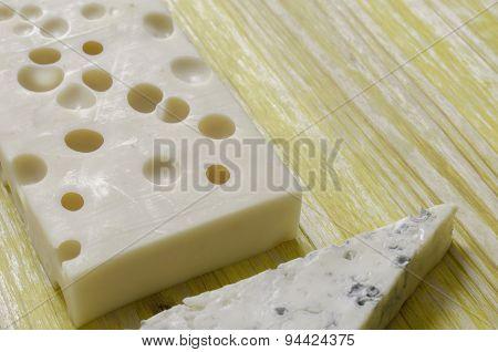 Gorgonzola And Gruyere Cheese.