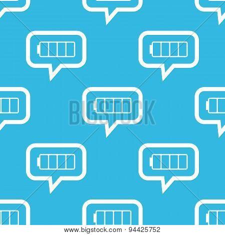 Empty battery message pattern