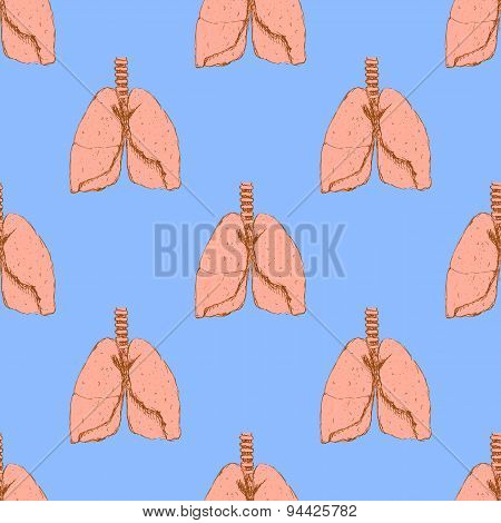 Sketch Lungs In Vintage Style