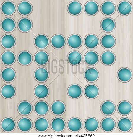 Pale Wooden Background With Scattered Circular Elements