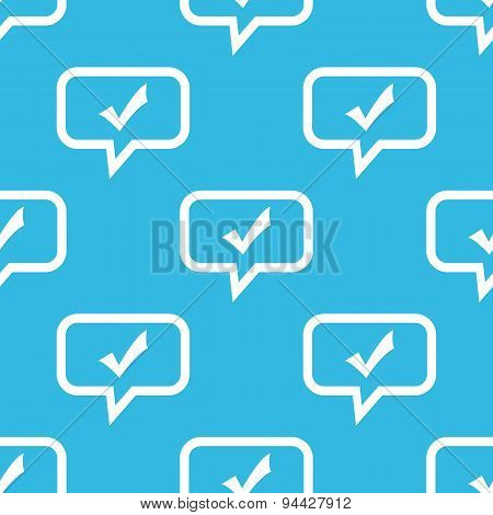 Tick mark message pattern