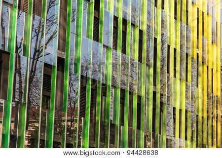 Public Office Building With Colorful Graduated Shading