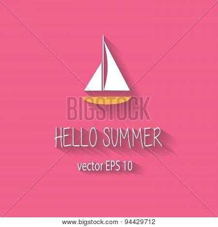 Yacht summer background